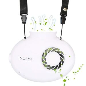 首かけ扇風機 Normei 携帯扇風機 ミニ超小型携帯乾電池USB充電式フアン USB給電/充電電池 風量無段階調整 強力 静音 省エネスポ|shop-frontier