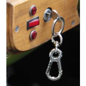 MOONEYES ムーンアイズ MOON W カラビナ キーホルダー MOON Double Carabiner key Holder ブラ|shop-frontier