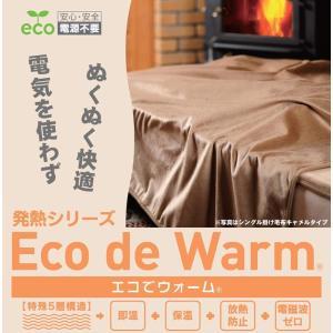 速暖 エコでウォーム 毛布 シングル(約150×200cm) キャメル|shop-frontier
