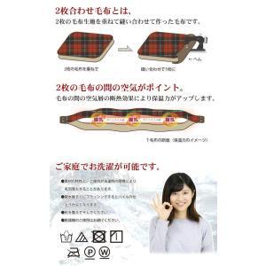 京都西川 2枚合わせ 綿入りフランネル毛布(2NY4103) シングルサイズ ベージュ(花柄レッド)|shop-frontier