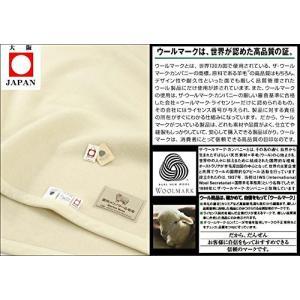 公式三井毛織 国産 スリープ イン メリノ ウール 毛布 140x200 cm たて糸も横糸も細いメリノウール|shop-frontier