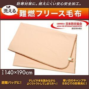 ヒラカワ 洗える難燃フリース毛布 PNBK14-19BE|shop-frontier