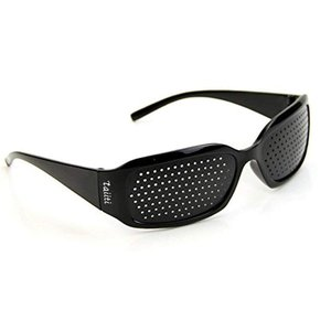 ピンホールメガネ 視力回復 近視 遠視 老眼 乱視の改善 フリーサイズ 男女兼用 眼筋力 アップ|shop-frontier