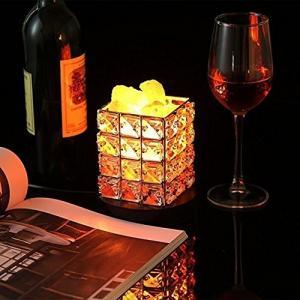 Lucktao テーブルランプ センサー 水晶岩塩ランプ 天然塩製ランプ 安眠効果 おしゃれ クリスタル 調光 空気浄化 天然のヒマラヤ塩灯 shop-frontier