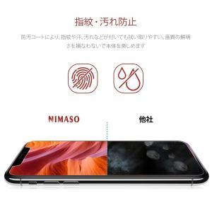 3枚セットNimaso iPhoneXS Max 用 強化ガラス液晶保護フィルムガイド枠付き 日本製...