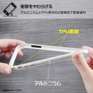 レイ・アウト iPhone XS アルミバンパー+背面パネル クリア シルバー
