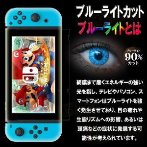 RISEブルーライトカットガラス任天堂スイッチ Nintendo Switch 強化ガラス保護フィルム 国産旭ガラス採用 ブルーライト90% shop-frontier