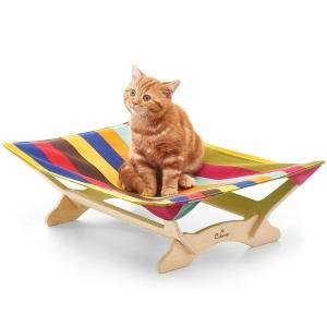 一生モノの猫ハンモックベッド Catoneer キャットハンモック 猫ベッド キャットベッド 猫用品 ねこ ネコ 木製 ペット クッション|shop-frontier