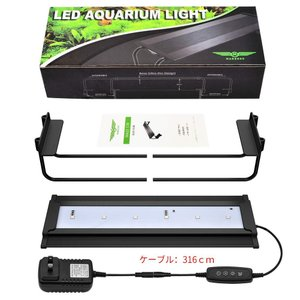 EAYHM 水槽ライト アクアリウムライト 七色変換LED 魚ライト 熱帯魚観賞 30~50CM水槽対応 水草育成 極薄 長寿命 照明 9W|shop-frontier