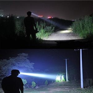 Eornmor超強力8000ルーメン充電式LEDヘッドライト防水アウトドアー夜釣り工事作業 防災グッズ|shop-frontier