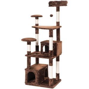 Mwpo キャットタワー 猫タワー 大型猫 据え置き 麻紐 2つ猫ハウス 子猫からシニアまで全年齢対象 多頭飼い 165cm 匂いなし 02|shop-frontier