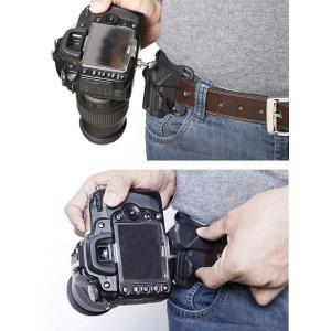 カメラ ウエスト ベルト ホルダー クイックホルダー ワンタッチで着脱可能 (ブラック)|shop-frontier
