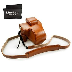 kinokoo Canon EOS Kiss M/EOS M50専用カメラケース カメラバッグ 15-45 mm レンズ 対応 バッテリーの|shop-frontier