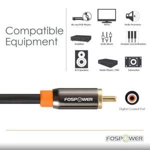 FosPower RCAオス - RCAオス S/PDIF同軸デジタルオーディオ (COAXIAL) コアキシャルケーブル 24K金メッキコ shop-frontier