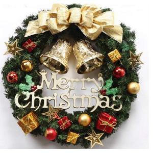 クリスマス リース ゴージャス 選べる 3種類 ゴールド レッド パウダースノー (3 ゴールド) shop-frontier