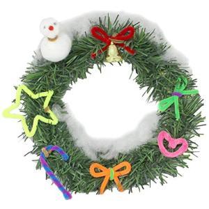 クリスマス リース 作り 10個組 子ども会 クリスマス会 に人気の簡単 工作 キット shop-frontier