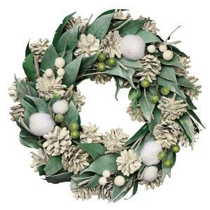 彩か SAIKA リース M インテリア用玄関飾り グリーン ナチュラル CXO-353Mgr Wreath-Snow Fairy M (G shop-frontier
