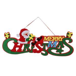 Kesoto クリスマス飾り クリスマスリース 玄関 ドア飾り 壁掛け 店舗用 パーディー用 サンタクロース フェルト 約43x18? shop-frontier