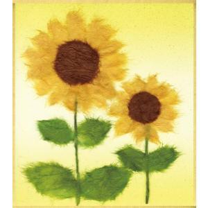 四季の和紙ちぎり絵手作りキット (ミニ)3個セット 夏の花木・あじさい、朝顔、ひまわり|shop-frontier