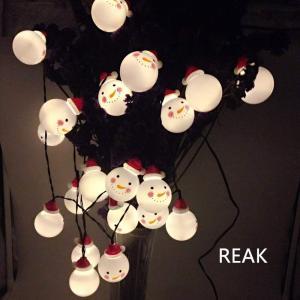 イルミネーションライト REAK サンタさん イルミネーション ソーラー式 クリスマスLED サンタクロース 20球 可愛い 飾りライト 光|shop-frontier