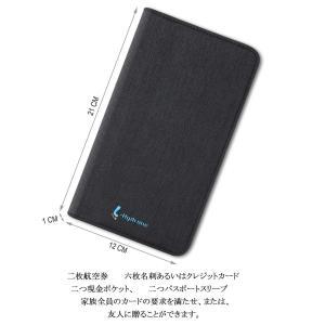 L-Hydrone パスポートケース スキミング防止 海外旅行用ブラック カードケース 便利グッズ