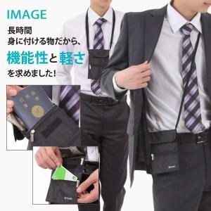 Foppery パスポートケース 首下げ スキミング防止 超軽量 ネックポーチ 電磁波遮断 防犯対策...