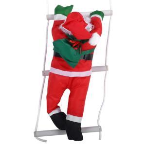 はしごサンタクロース2人 クリスマス装飾 クリスマスツリーハンギング 装飾 吊り飾り 窓 ドア 人形...
