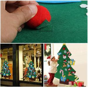 Kesoto フェルトクリスマスツリー クリスマス飾り 26個パーツ付き 壁掛け ウォールデコレーション 取り外し可能 メリークリスマス M|shop-frontier