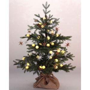 120cm リアルなドイツトウヒ クリスマスツリーセット オシャレカラーゴールド・シルバー・コッパー・ホワイトのベツレヘムの星20個 LED|shop-frontier