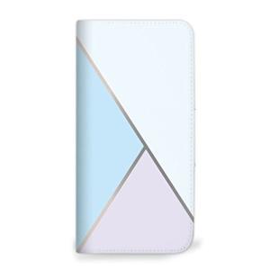 mitas iPhone5s ケース 手帳型 ベルトなし ステンドグラス ブルー (73) NB-0233-BU/iPhone5s|shop-frontier