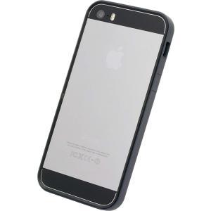 パワーサポート フラットバンパーセット for iPhone5s/5 ブラック PJK-42 shop-frontier