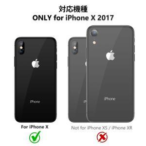 TORRAS iPhone X 専用ケース 背面強化ガラスxTPUハイブリッドカバー ガラスフィルム...
