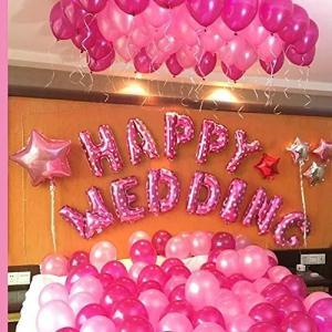 HAPPY WEDDING 超巨大 ウェディング バルーン セット 結婚式 二次会 飾り付け パーティーのデコレーション 風船 装飾セット|shop-frontier