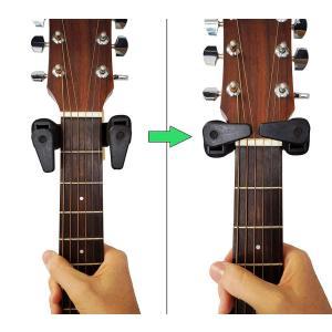Z-Liantギターハンガー 高耐久 壁掛け 自動ロック ギタースタンド アコギ、エレキ、ベース用ネ...