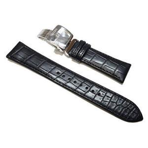〔セイコー〕SEIKO 20mm 時計バンド メカニカル プレザージュ純正ベルト クロコダイル 黒 SARD005 SARD009 純正 L|shop-frontier