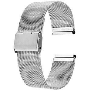 Reinherz 腕時計用ベルト 時計バンド 防水 ステンレス鋼 スライド式 バックル クラシック ...