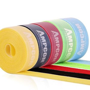 AMPCOM 結束バンドマジックバンド 結束テープ 自由にカット 線整理幅2cm 長さ2m 5色 5枚セット ケーブル/コード等収納 オフィ shop-frontier