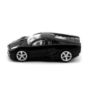 ワイヤレスマウス 車型 2.4GHz 無線マウス1600DPI 光学式 USBレシーバマウス小型 (ブラック)|shop-frontier