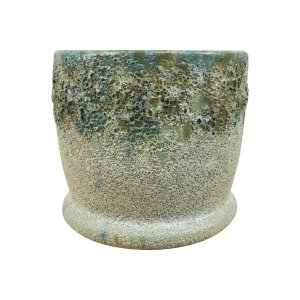 釉薬がしっかりとかかった鉢カバー。カラフルなラインナップです。 まだら模様やツートンカラーなどバリエ...