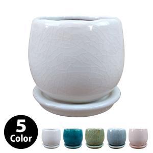 植木鉢・おしゃれ・テラコッタ 釉薬がきれいな卵型ポット MM038-115 4号(11.5cm) / 陶器鉢 丸型