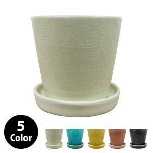 焼きもの特有のカッチリとした質感が際立つ植木鉢。よく練られた陶土からは滑らかで均質な素地がつくられま...