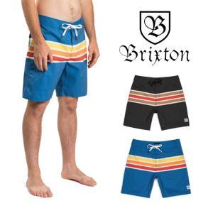 【5%還元】ブリクストン サーフパンツ ボードショーツ 水着 BRIXTON BARGE STRIPE TRUNK ショートパンツ ハーフパンツ 短パン [メール便]0510|shop-hood
