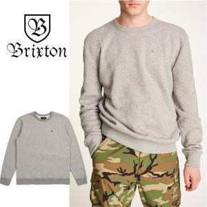 【5%還元】ブリクストン トレーナー 長袖 BRIXTON B-SHIELD CREW スウェット 灰色 トップス 長袖トレーナー   [0805]|shop-hood