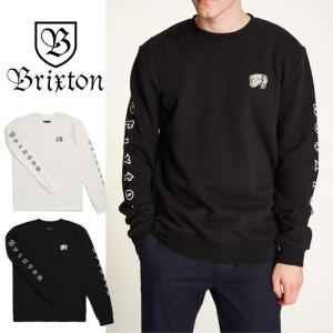 【5%還元】ブリクストン トレーナー 長袖 BRIXTON [ PRIMO CREW スウェット 長袖トレーナー 白 黒  [0805]|shop-hood