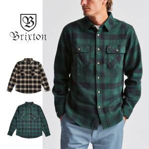【5%還元】ブリクストン ネルシャツ 長袖 メンズ BRIXTON BOWERY L/S FLNL フランネルシャツ 長袖シャツ チェック  [0820]|shop-hood