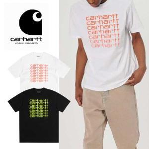 カーハート Tシャツ 半袖 Carhartt WIP S/S FADING SCRIPT I027813 半袖Tシャツ 黒 白   [0405] shop-hood