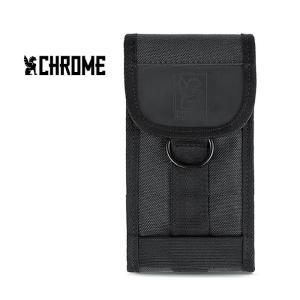 【5%還元】クローム スマホポーチ CHROME INDUSTRY [ AC126 ] LARGE PHONE POUCH BLK ラージフォン ポーチ 携帯ケース [0315]|shop-hood