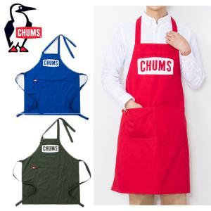 ◆Boat Logo Apron  キャンプごはんが楽しくなる、CHUMSロゴモチーフのエプロン  ...