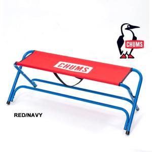 【5%還元】チャムス チェア ベンチ 2人用 CH62-1331 チャムスベンチ アウトドアチェア 椅子 キャンプ アウトドア CHUMS BENCH RED/NAVY 赤 青|shop-hood