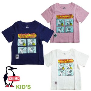 【5%還元】チャムス Tシャツ 半袖 キッズ Chums CH21-1089 Kid's Booby Comic T-Shirt  半袖Tシャツ 子供 メール便|shop-hood